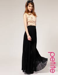 asos collection asos petite pleated maxi skirt in black lyst