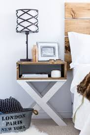 White Wooden Headboard Double by Fascinating Table Lamp On Interesting Building A Nightstand Design