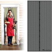 Magnetic Screen Door with Heavy Duty Magnets and Mesh Curtain by