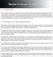 Free Company Handbook Template Employee