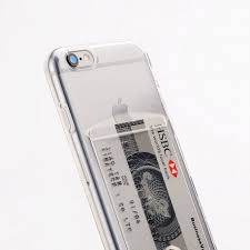 iPhone 6 6S silicone case with card slot Transparent