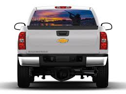 100 Duck Decals For Trucks Hunting Scene Rear Truck Window Graphic Nostalgia Rear