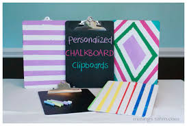 Personalized Chalkboard Clipboard DIY Project