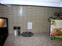 glass tile backsplash in a brick pattern paramount