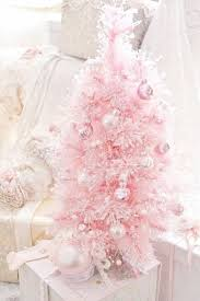 A Pastel Pink Little Tree With Matching And Silver Ornaments For Sweet Look