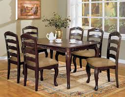 Furniture Of America Kathryn 7-Piece Classic Style Dining Table Set, Dark  Walnut Finish Simmons Upholstery 500959 Heirloom Fniture Black Walnut Ding Table Bentley Designs Lyon Extending Table 6 Oiive Grey Leather Chairs Costco Uk Royce Set B 14 Camel Group Nostalgia Round Extension Starburst Dark Tables Custmadecom And Chairs Chair By Svegards Of America Argos Ava With 4 In Bucksburn Aberdeen Gumtree To Solid Jupe Hidden Leaves