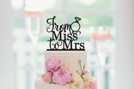 From Miss To Mrs Cake Topper Bridal Shower Topperbride Be Bachelorette In Decorating Supplies Home Garden On