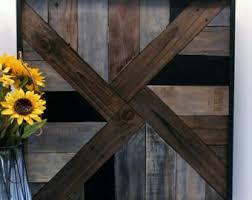 Reclaimed Wood Wall Art Rustic Large Geometric Barnwood Style