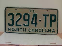 100 Truck License 1971 North Carolina NC Plate 3294TP