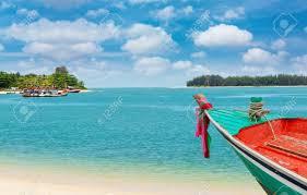 100 Playa Blanca Asia Bote Pequeo En La Playa Blanca En El Verano En Tailandia