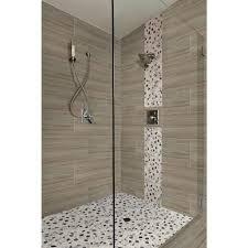 Home Depot Floor Tiles Porcelain by Ms International Cresta Silver 12 In X 24 In Glazed Porcelain