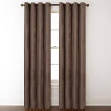Allen Roth Silcroft 84 In Chocolate Chenille Grommet Light Filtering Single Curtain Panel