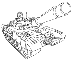 Military Coloring Pages Tank