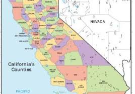 Ca Map Cities And Towns Of California Springs Within