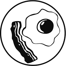 Bacon and Fried Egg Coloring Pages