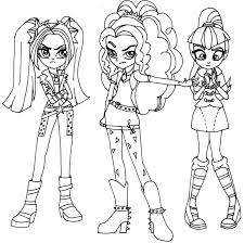 My Little Pony Equestria Girls Colo Printable Coloring Pages