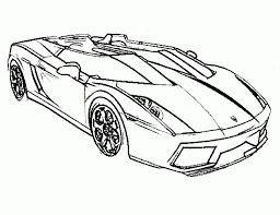 Race Car Color Pages Handsome Rugged Lamborghini Coloring