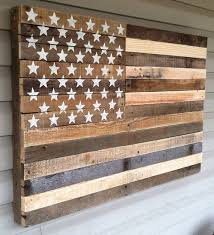 American Flag Wall Art Reclaimed Pallet Hanging