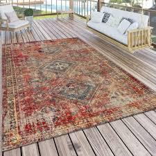 outdoor teppich orientalisches muster rot