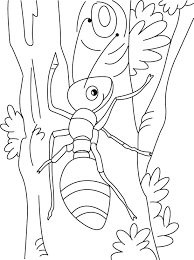 Ant Climbing Art Coloring Pages
