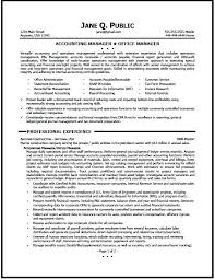 Manager Sample Resume Accounting Sales Format