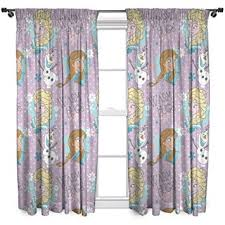 Amazon Prime Kitchen Curtains by Character World 72 Inch Disney Frozen Crystal Curtains Amazon Co