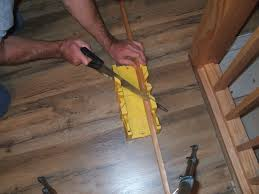 Cut Laminate Flooring With Miter Saw by How To Install Shoe Molding Or Quarter Round
