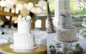 Petal Ruffles Wedding Cakes Image Left By Bentinmarcs Photography Via Style Me Pretty Cake Right