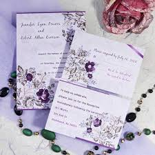 Romantic Purple Floral Printable Wedding Invitation Cards Cheap EWI063 As Low 094
