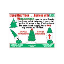 Christmas Tree Removal Bag Sign JB 130