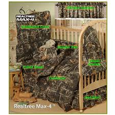 amazon com realtree max 4 camo 7 piece baby crib set gift set