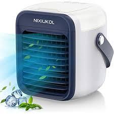 verbesserte mobile klimaanlage tragbare mini luftkühler verdunstungskühler luftbefeuchter lufterfrischer ventilator mit 3 geschwindigkeiten 7