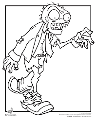 Bunch Ideas Of Zombies Coloring Pages To Print About Layout
