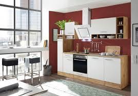 respekta küchenzeile küche küchenblock einbauküche 250 cm wildeiche weiß