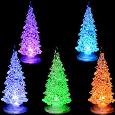Changing White Pine Small Christmas Tree Lamp Light Children Xmas Gift Decorations