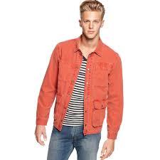 lucky brand jacks denim jacket in orange for men lyst