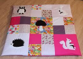 tapis d eveil couture tapis d éveil tapis de parc en patchwork avec appliqué hérisson