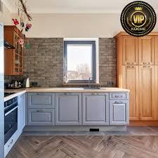 landhausküche astra l form küchenzeile massivholzküche aschblau natureiche