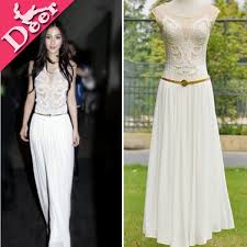 High Quality 2014 Women Formal Dress Vestido Longo Teenage Girls Fashion Chiffon Womens Gradient Embroidery Sale Bordadodresses In Dresses From