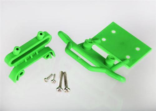 Traxxas 3621a Bumper Front and Bumper Mount - Green