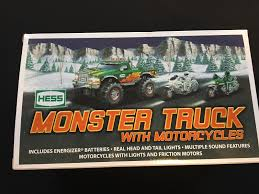 100 2007 Hess Truck Monster With Motorcycles Collectible Orig Box