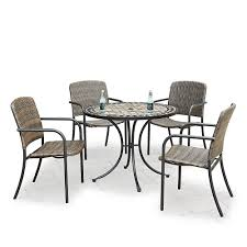 Marble Top 5-Piece Round Outdoor Dining Table & 4 Chairs Chair Marvelous Round Table And 4 Chairs Ding Table Juno Chairs Table And Chairs Plastic Round Mfd025 Ding Soren 5 Piece Piece Set 1 With 1200diam Finished In Concrete Miss Charcoal Coon Rapids With Luxury White Chrome Glass Lipper Childrens Walnut Key West 5piece Outdoor With