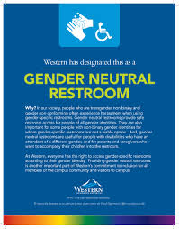 Gender Inclusive Bathroom Sign by Gender Neutral Restrooms Equal Opportunity Office
