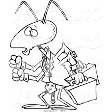 Vector Of A Cartoon Business Ant