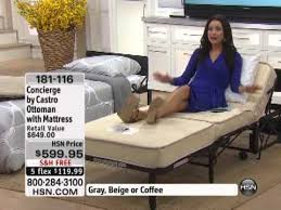 concierge collection by castro convertible ottoman with youtube
