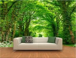 chambre foret 3d chambre papier peint paysage peinture murale personnalisée le