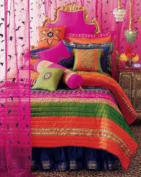 Great Vibrant Colors In This Indian Style Bed Find Pin And More On Arabian Room Ideas