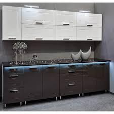 hochwertige küche 260cm küchenzeile quatro mdf weiss grau