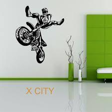 moto x motocross wheelie motorbike sport creative vinyl wall decal