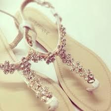 Wedding Shoes Accessories Diamonds Flat Sandals Elegant Beach Flats Summer